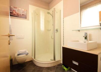 Melanies Guesthouse Blick ins Badezimmer
